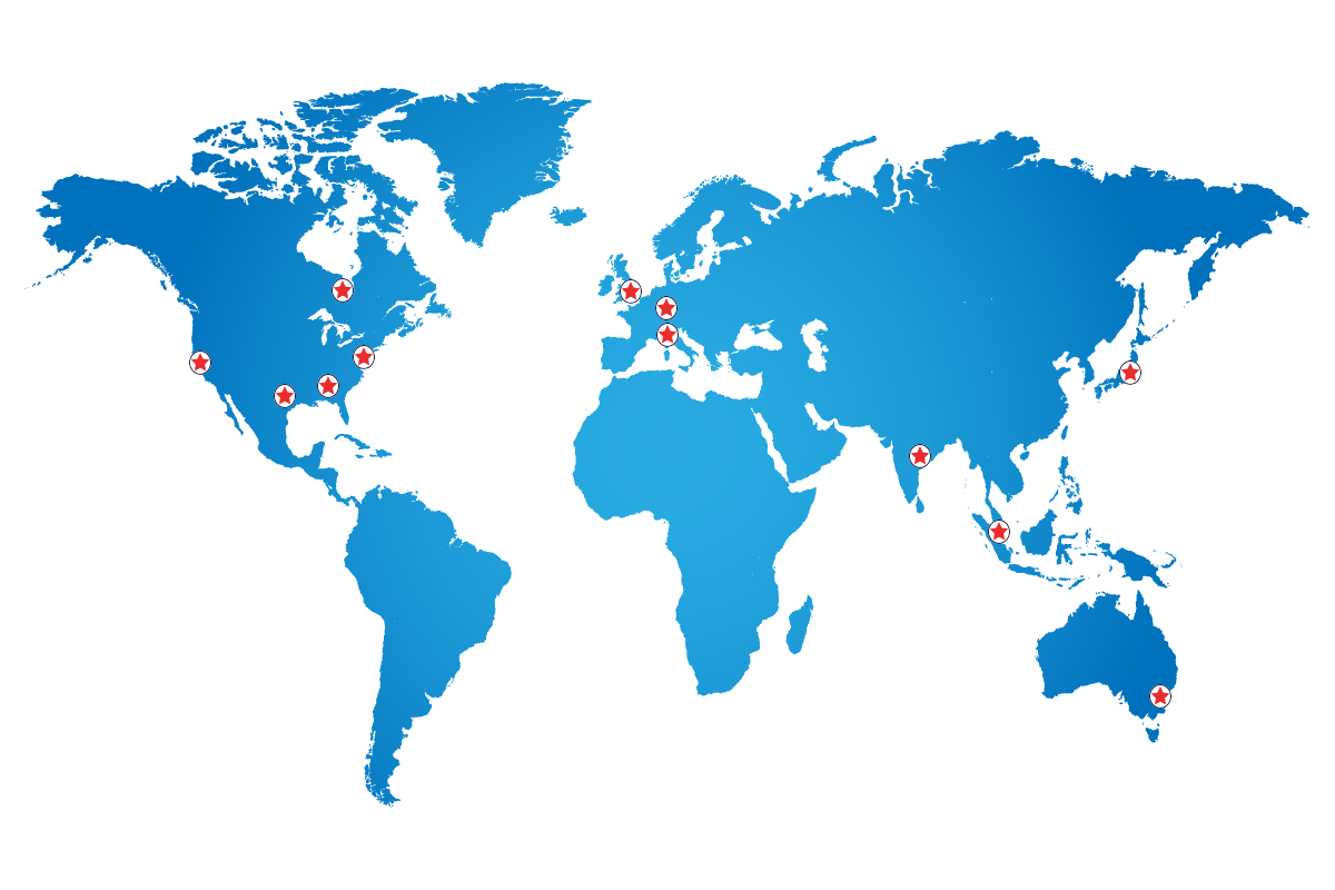Data center map hosting linux XLR8R